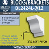 "BL2424R-7/12 Pitch Eave Block 4""W x 6""H x 6"" P"