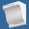 """BL2441L-10/12 Spectis Eave Block or Bracket 12""""W x 12""""H x 7"""" Projection"""