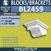 "BL2459 Eave Block or Bracket 5""W x 3""H x 5.5"" P"
