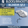 "BL2483R-5/12 Pitch Eave Bracket 14""W x 7""H x 11"" P"