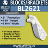 "BL2621 Eave Block or Bracket 5.125""W x 6""H x 21"" P"