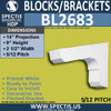 "BL2683 Eave Block or Bracket 2.5""W x 9""H x 14"" P"