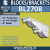 "BL2708 Eave Block or Bracket 6""W x 4""H x 4"" P"