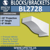 "BL2728 Eave Block or Bracket 8""W x 9""H x 20"" P"