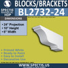 "BL2732-24 Eave Block or Bracket 6""W x 10""H x 24"" P"