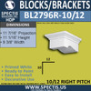 "BL2796R-10/12 Pitch Eave Bracket 9.3""W x 5.1""H x 11.5"" P"