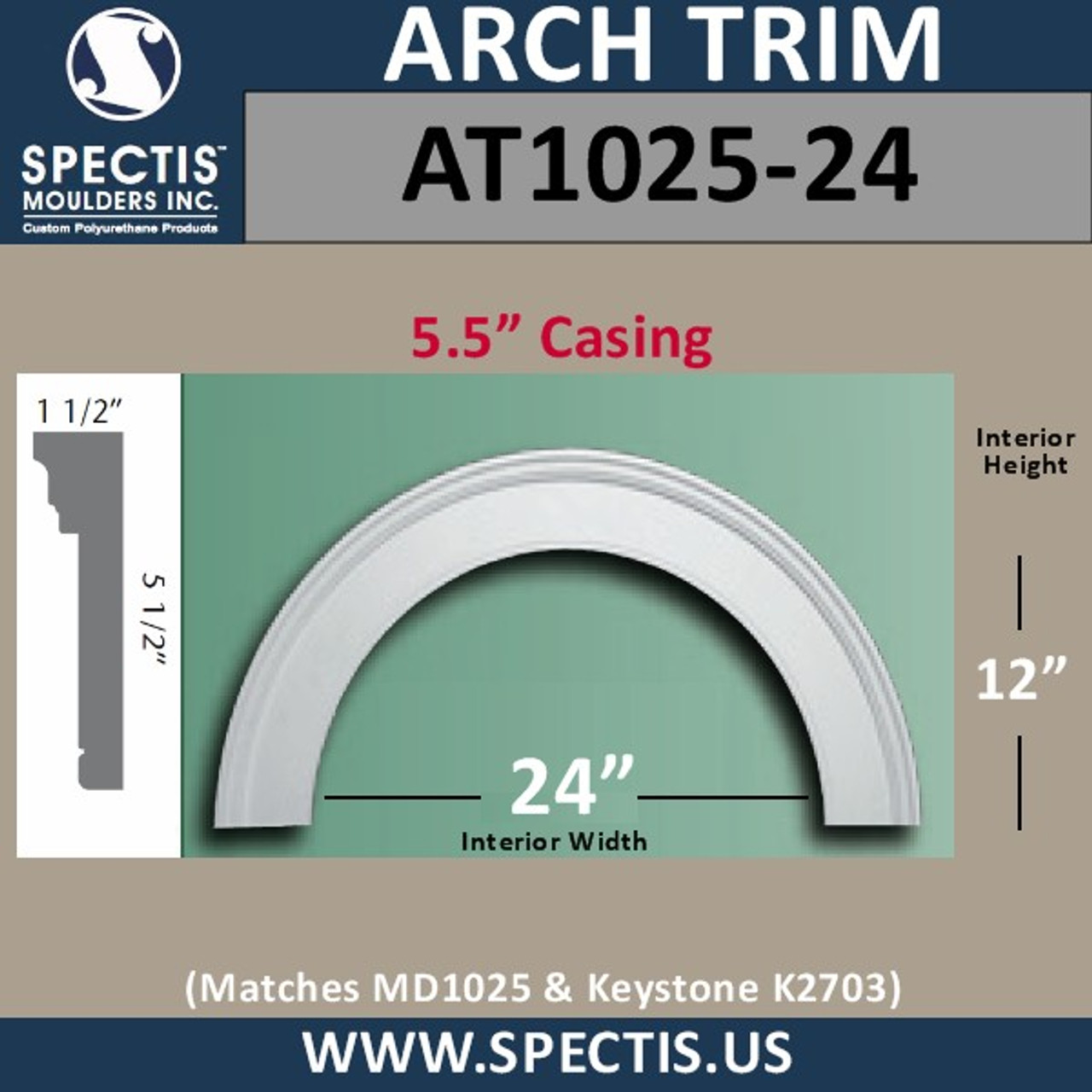 "AT1025-24 Arch Circle Top with 24"" Opening"