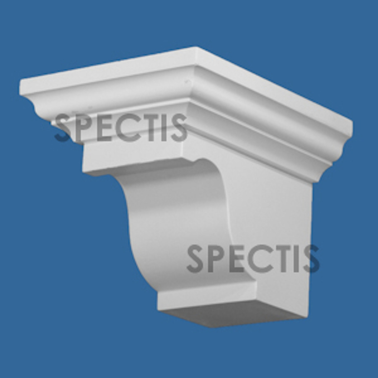 """BL2999 Spectis Eave Block or Bracket 7""""W x 6.5""""H x 8.75"""" Projection"""