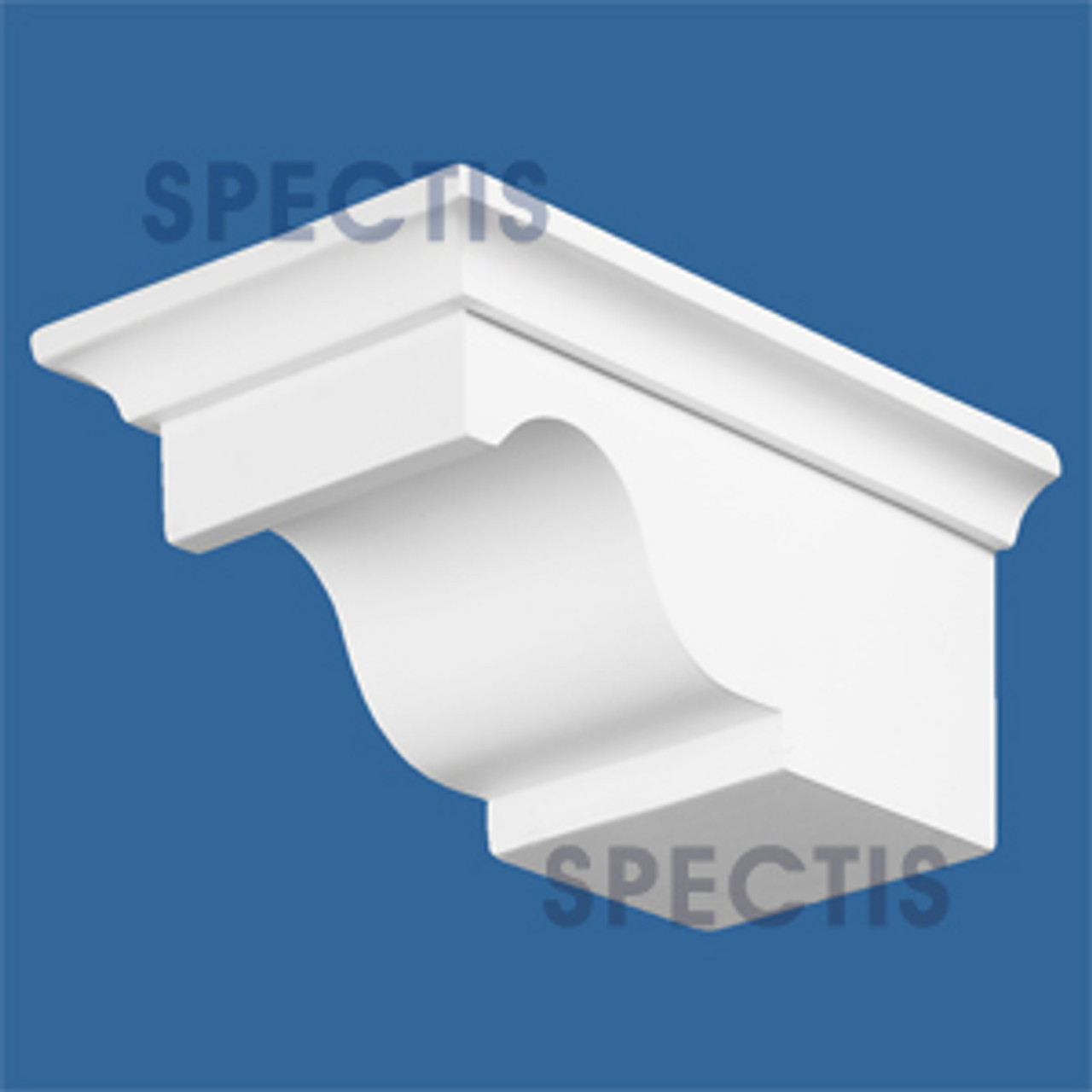 """BL2404L-10/12 Spectis Eave Block or Bracket 5""""W x 3.5""""H x 7.75"""" Projection"""