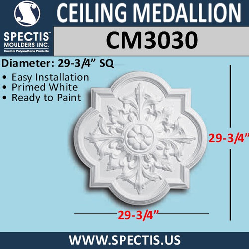 "CM3030 Decorative Ceiling Medallion 29.75"" Wide"