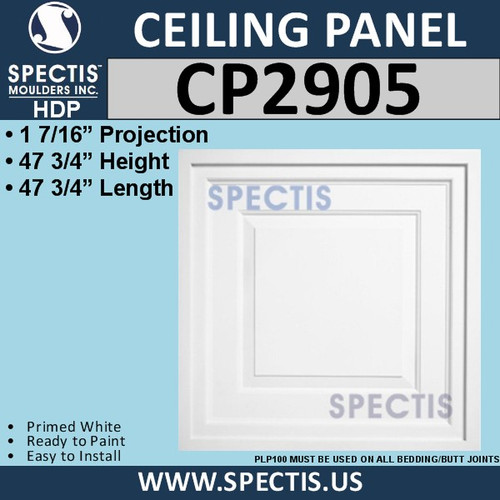 CP2905 Drop-In Premium Decorative Large Ceiling Panel 47-3/4""