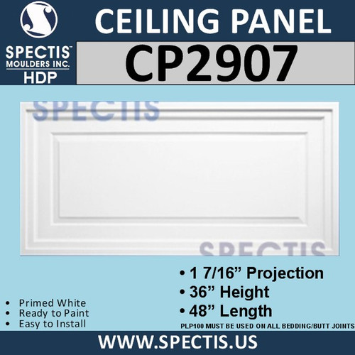 "CP2907 Rectangular Decorative Wall or Ceiling Panel 36"" X 48"""
