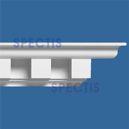 "MD1141 Spectis Crown Molding Dentil Trim 5""P x 5 1/2""H x 144""L"