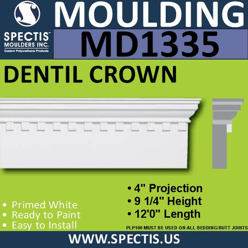 "MD1335 Spectis Molding Head Trim 4""P x 9 1/4""H x 144""L"
