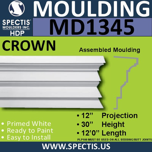 "MD1345 Spectis Molding Head Trim 12""P x 30""H x 144""L"