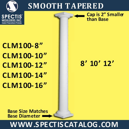 CLM100 Smooth Tapered Column from Spectis Moulders