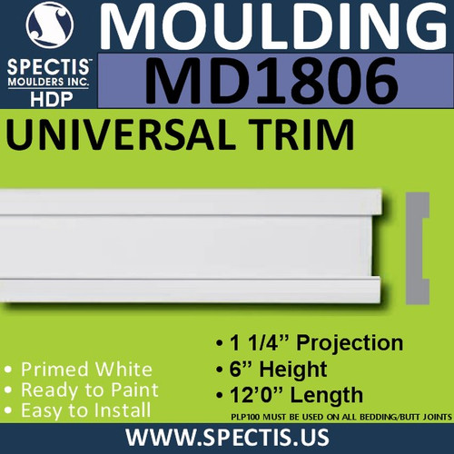MD1806 Universal Molding Trim decorative spectis urethane