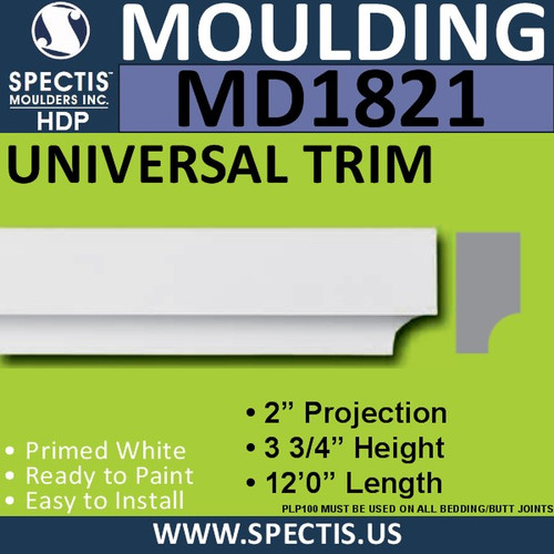 MD1821 Universal Molding Trim decorative spectis urethane