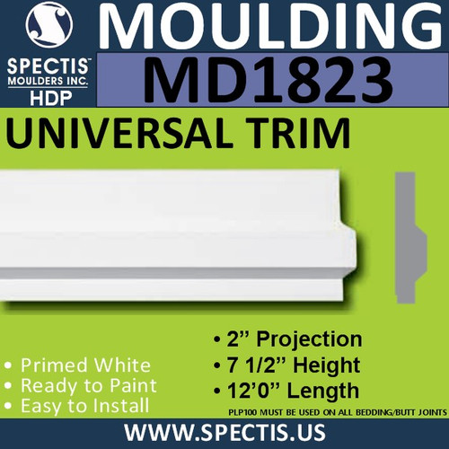 MD1823 Universal Molding Trim decorative spectis urethane