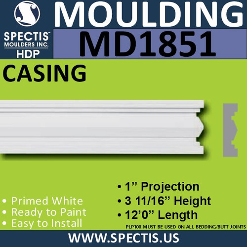 MD1851 CASING Molding Trim decorative spectis urethane