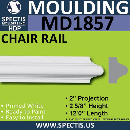 MD1857 Chair Rail Molding Trim decorative spectis urethane