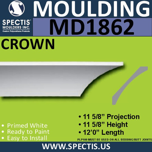 MD1862 Crown Molding Trim decorative spectis urethane
