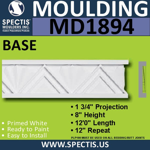 MD1894 BASE Trim Decorative Molding spectis urethane