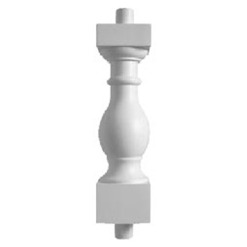 """BAL2027-29EXT32FS Urethane Fossil Stone Baluster 5 1/4""""W X 32""""H"""