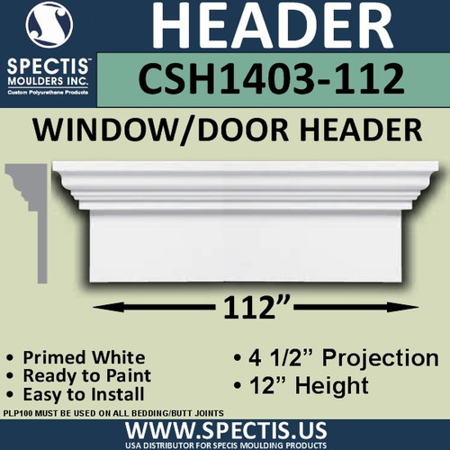 "CSH1403-112 Crosshead for Window/Door 4.5""P x 12""H x 112""W"