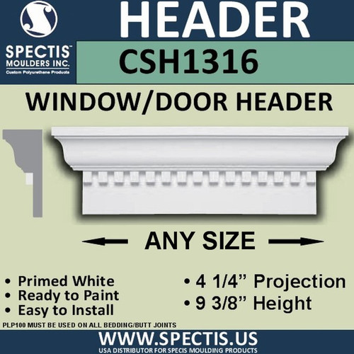 "CSH1316-24 Crosshead for Window/Door 4.25""P x 9.375""H"