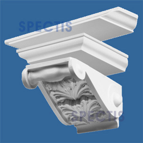"""BL2604 Combined Corbel or Eave Bracket 21""""W x 10""""H x 17"""" P"""