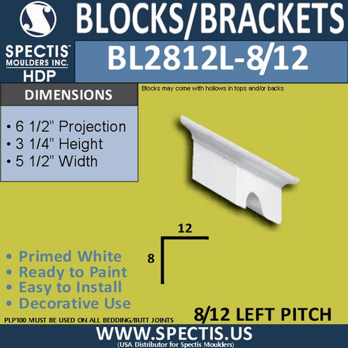 "BL2812L-8/12 Pitch Eave Bracket 3.5""W x 3.75""H x 6.5"" P"