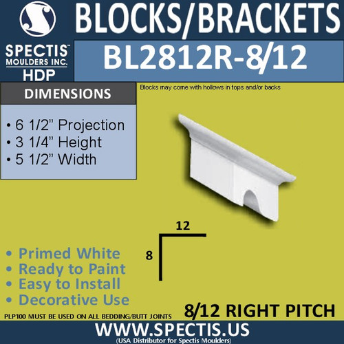 "BL2812R-8/12 Pitch Eave Bracket 3.5""W x 3.75""H x 6.5"" P"