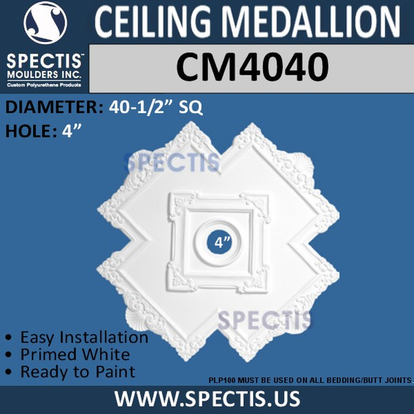CM4040 Cross Pattern Decorative Ceiling Medallion 40.5""
