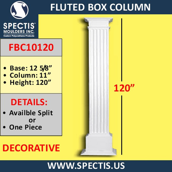 "FBC10120 Fluted Box Column 11"" x 120"""
