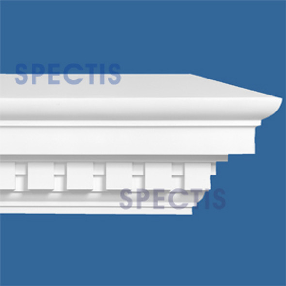"MD1580 Spectis Crown Dentil Trim 10 3/4""P x 19 1/2""H x 144""L"