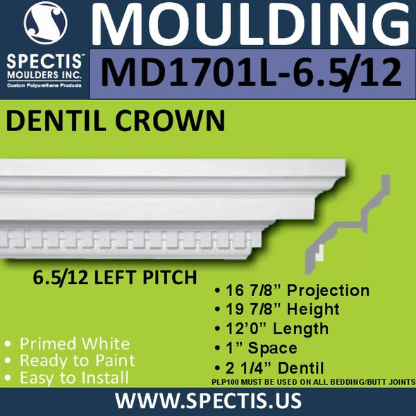 "MD1701L-6.5/12 Pitch Spectis Crown 16.87""P x 19.87""H x 144""L"
