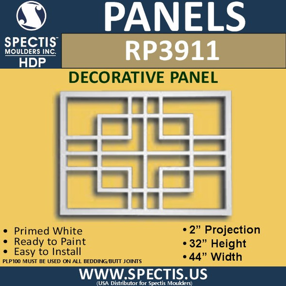 "RP3911 Decorative Grill Panel 2""P X 32""H X 44""W"