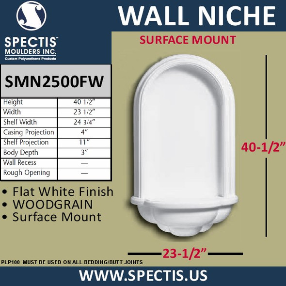 "SMN2500FW Surface Mount Wall Niche 23 1/2"" x 40 1/2"""