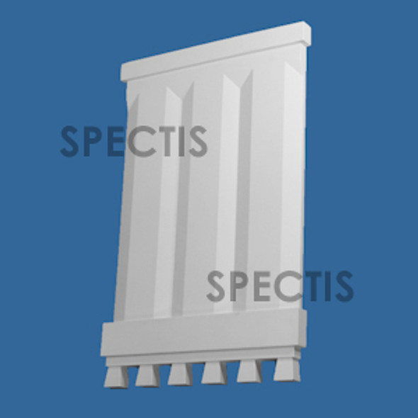 "BL3067 Spectis Eave Block or Bracket 16.88""W x 25.75""H x 1.13"" Projection"