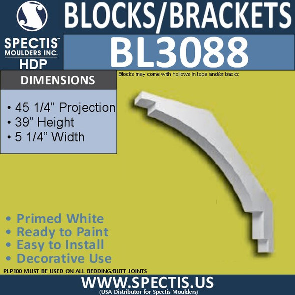 "BL3088 Eave Block or Bracket 5.25""W x 39""H x 45.25"" P"