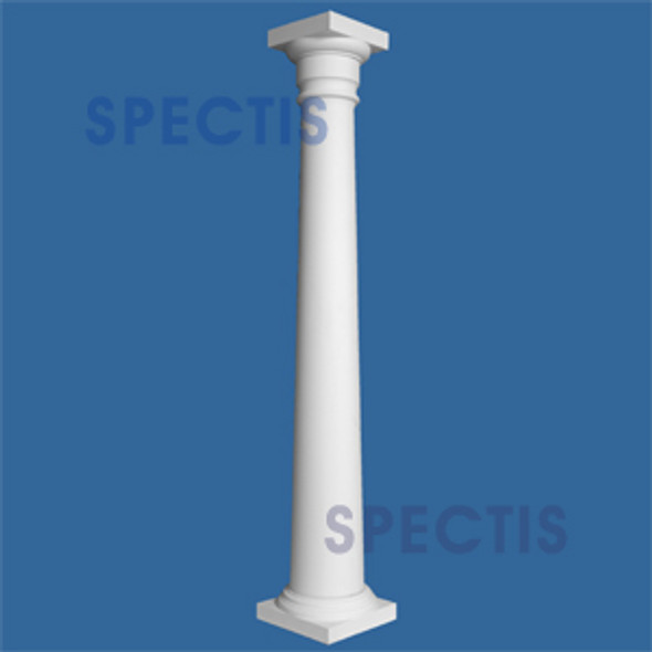 "CLM100-12-8 Smooth Tapered Column 12"" x 96"""
