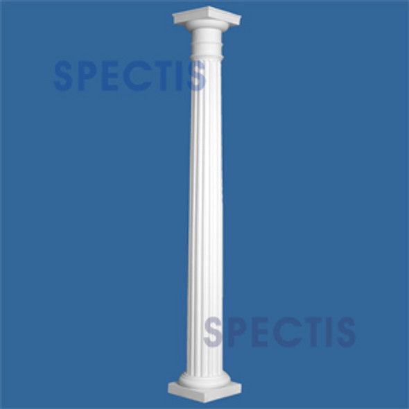 "CLM200-12-10 Fluted Tapered Column 12"" x 120"""