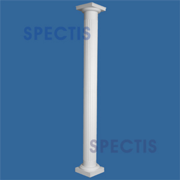 """CLM230-8-10S Fluted Straight Column 8"""" x 120"""" STRUCTURAL"""