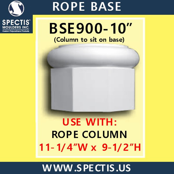 """BSE900-10 Rope Base 11 1/4""""W x 9 1/2""""H"""