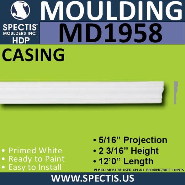MD1958 CASING Molding Trim decorative spectis urethane