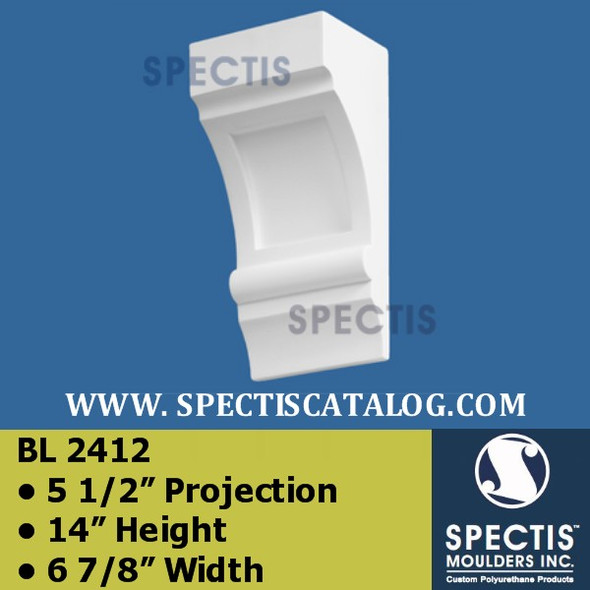 "BL2412 Corbel or Eave Bracket 5 1/2""Projection 14""H 6 7/8"" W"