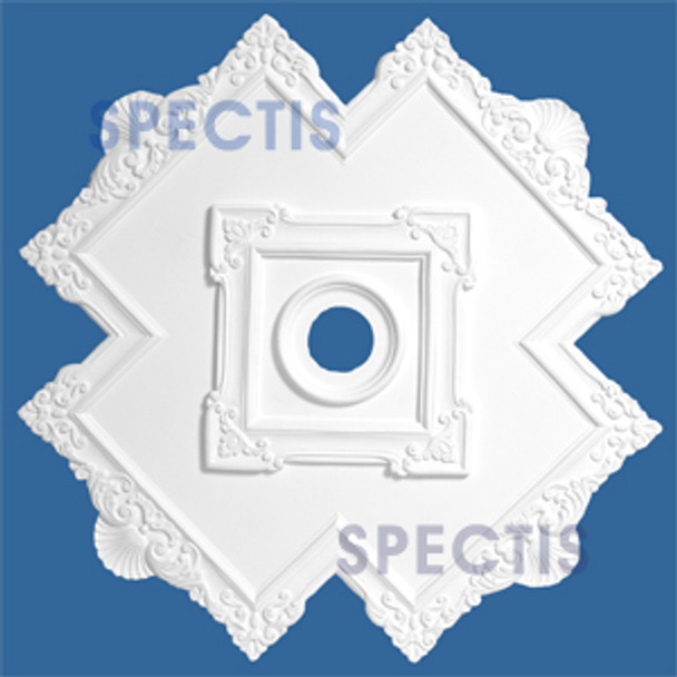"CM4040 40.5"" Cross Pattern Decorative Ceiling Medallion 4"" Hole"