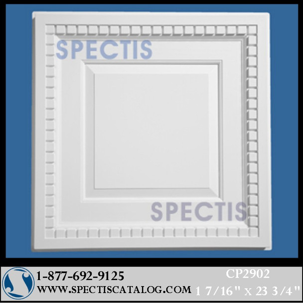 "CP2902 23 5/8"" Square Decorative Ceiling Panel"