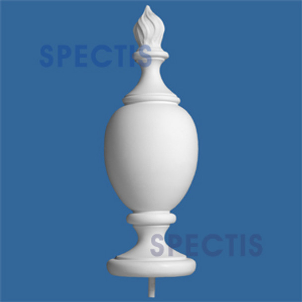 "FIN114 8 3/4"" x 25 1/2"" Flame Top Urethane Finial"